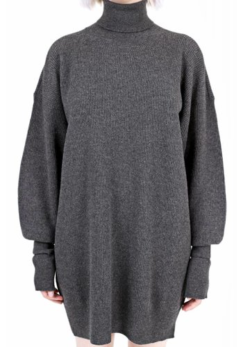 MAISON MARGIELA knitted turtleneck dress grey