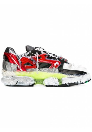 MAISON MARGIELA fusion 2.0 sneakers black red neon