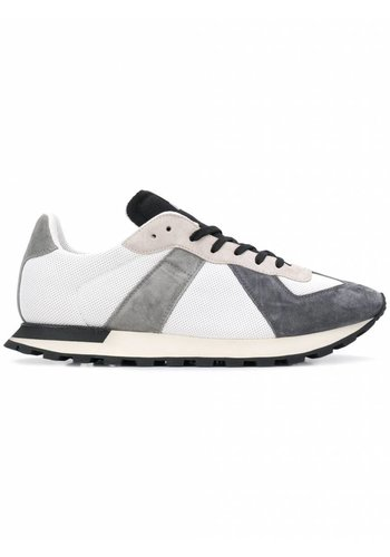 MAISON MARGIELA color block lace-up sneakers grey white