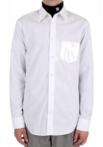 MAISON MARGIELA vinyl pocket shirt white