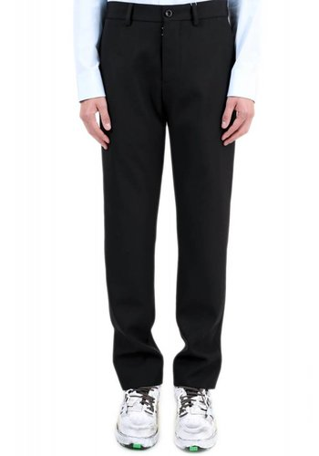 MAISON MARGIELA black trousers signature stitching