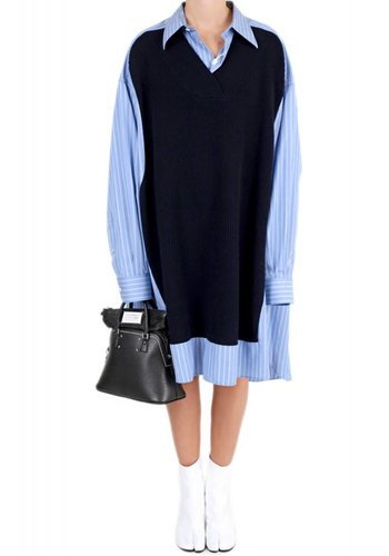 MAISON MARGIELA knitted jumper shirt dress
