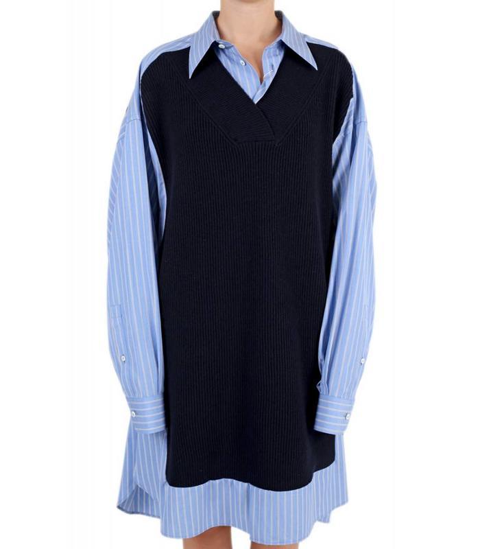KNITTED JUMPER SHIRT DRESS