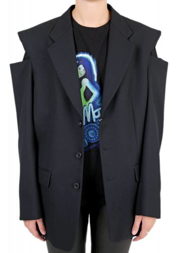 MAISON MARGIELA cut-out shoulder blazer