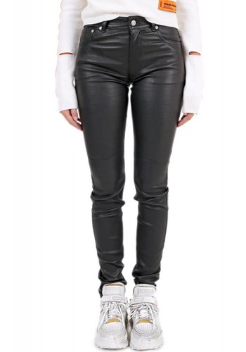 MAISON MARGIELA leather zip back pants