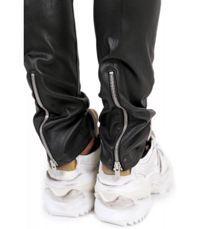 LEATHER ZIP BACK PANTS