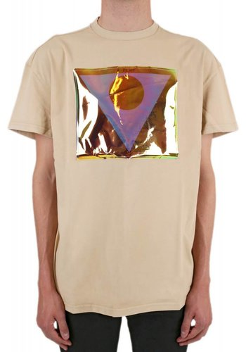 MAISON MARGIELA printed foild t-shirt nude
