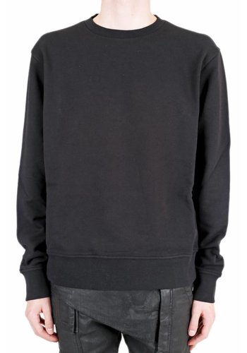 MAISON MARGIELA leather elbow patches sweater black