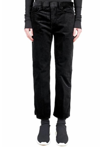 HAIDER ACKERMANN conducer black rib pants