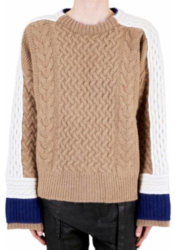 HAIDER ACKERMANN sweater borago camel