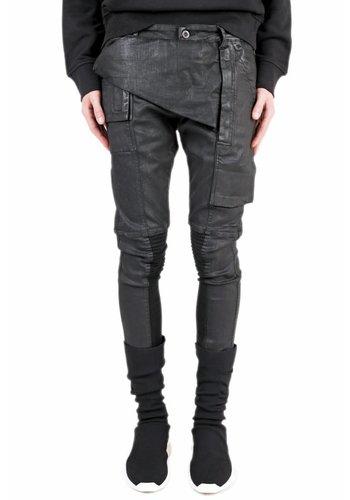 RICK OWENS DRKSHDW waxed black memphis skinny jeans