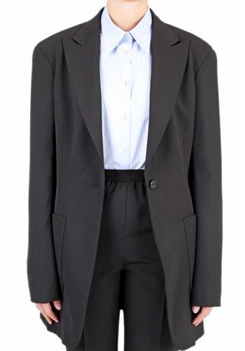 MAISON MARGIELA longline blazer black