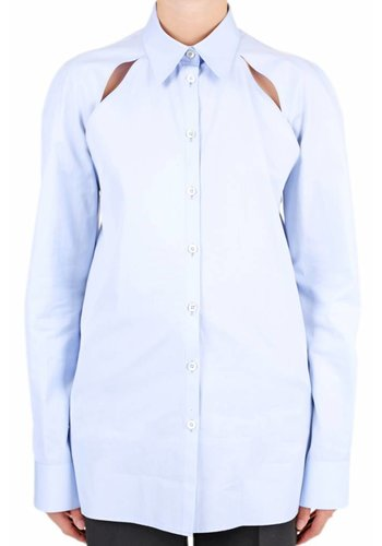 MAISON MARGIELA cut-out shirt sky blue