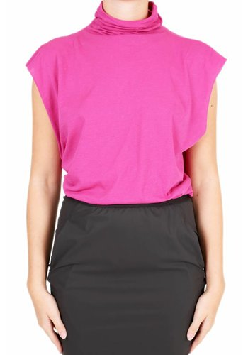 UNRAVEL PROJECT jersey mock tank fuchsia