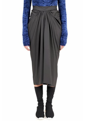 RICK OWENS LILIES matte pleated skirt black