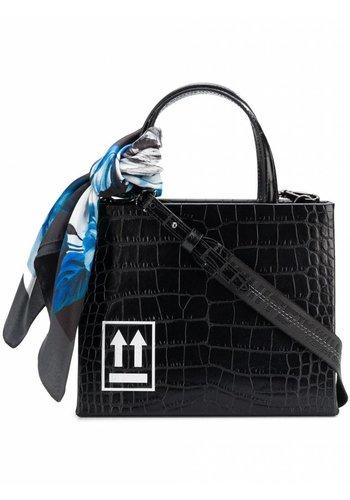 OFF-WHITE cocco box bag mini black white