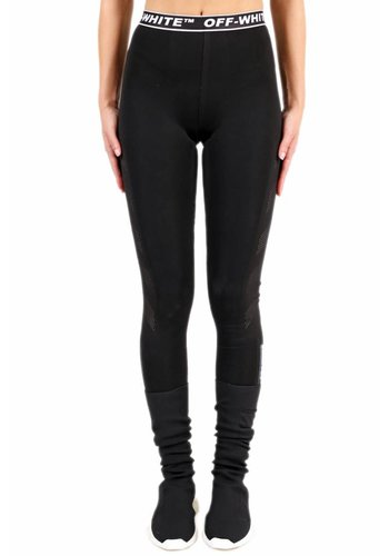 OFF-WHITE diag simple leggings black no color