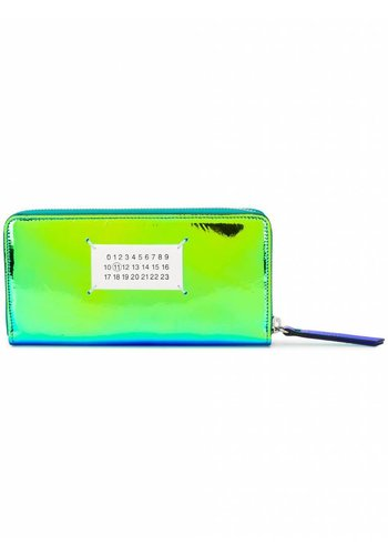 MAISON MARGIELA wallet iridiscent blue green