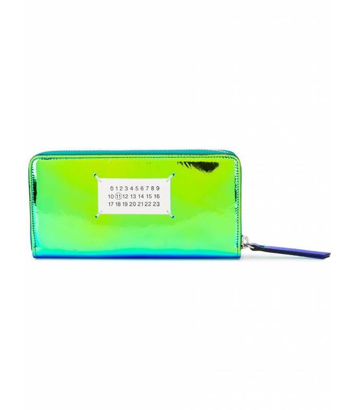 WALLET IRIDISCENT BLUE GREEN