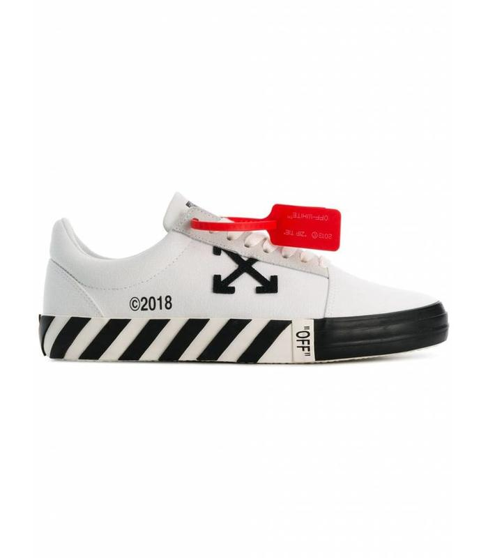 VULCANISED STRIPED LOW TOP WHITE NO COLOR