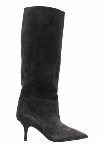 YEEZY season 7 tubular knee high boot graphite 70mm