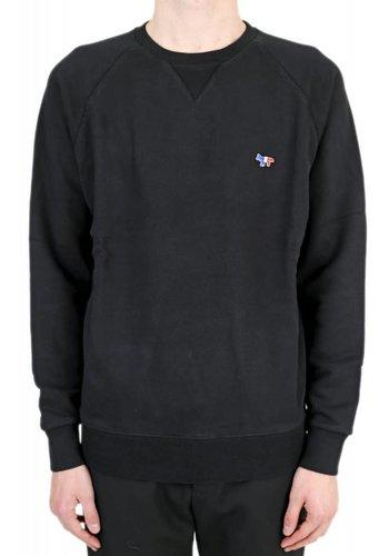 MAISON KITSUNE sweat-shirt tricolor fox patch black