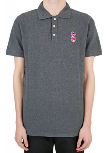 ACIDE MAISON KITSUNÉ polo acide fox patch anthracite