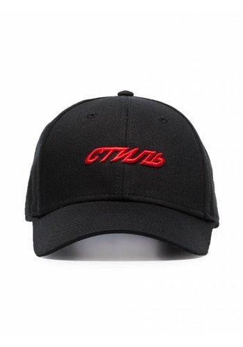 HERON PRESTON baseball cap embroidery стиль black red