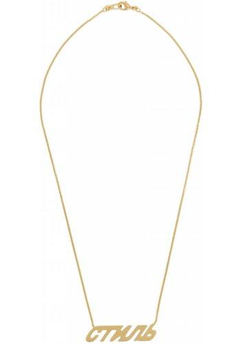 HERON PRESTON стиль necklace gold gold