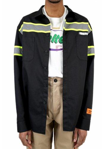 HERON PRESTON reflector shirt стиль ls black silver