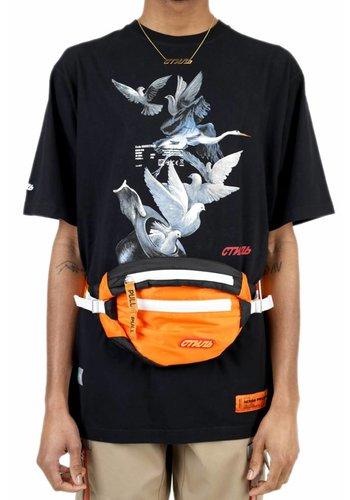 HERON PRESTON t-shirt ss reg herons doves black multicolor