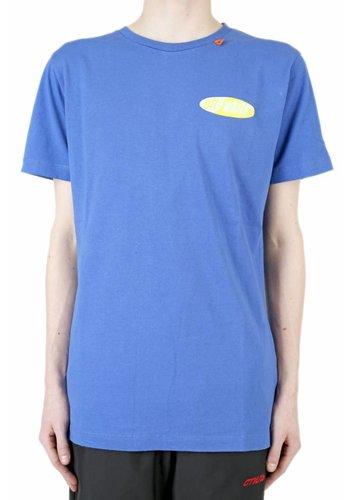 OFF-WHITE split logo s/s slim tee blue yellow