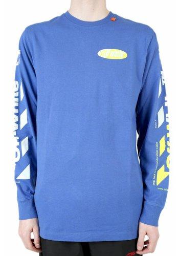 OFF-WHITE diag split logo l/s blue yellow