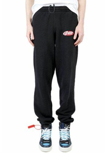 OFF-WHITE split logo slim sweatpants black red
