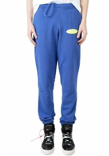 OFF-WHITE split logo slim sweatpants blue yellow