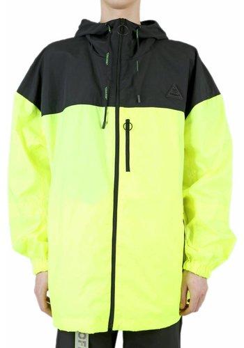 OFF-WHITE nylon windbreaker full zip fluo yellow