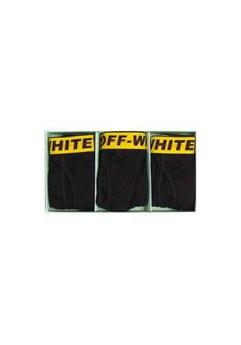 OFF-WHITE tripack boxer shorts black yellow