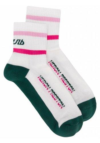 HERON PRESTON short socks стиль white green