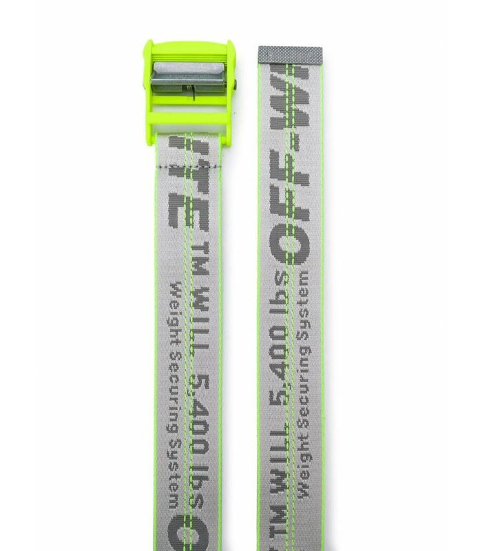 OFF-WHITE INDUSTRIAL BELT FLUO YELLOW NO COLOR