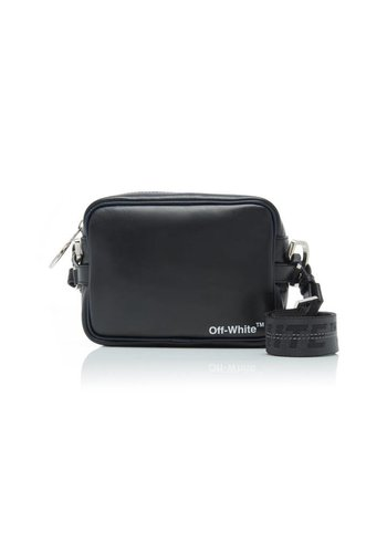 OFF-WHITE leather crossbody black white