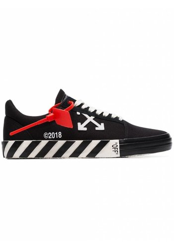OFF-WHITE vulcanised striped low top black no color