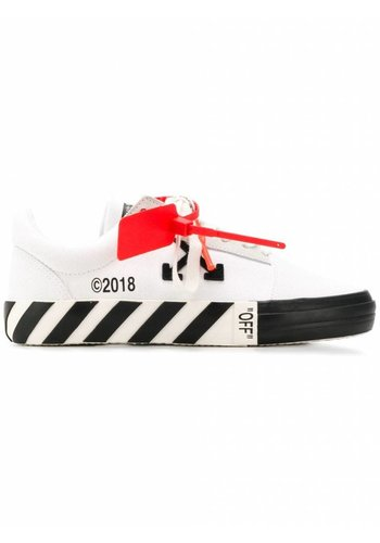 OFF-WHITE vulcanised striped low top white no color