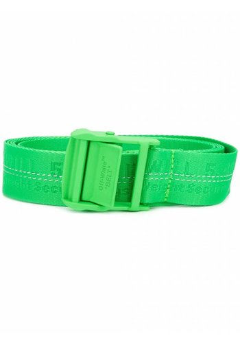 OFF-WHITE classic industrial belt brilliant green
