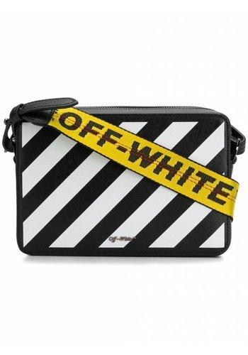 OFF-WHITE diag fannypack black white