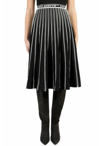 OFF-WHITE knit plisse skirt black no color