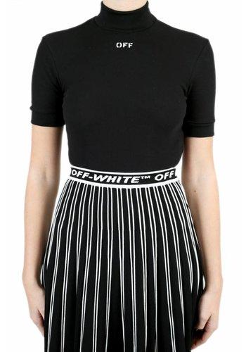 OFF-WHITE cropped tee black white