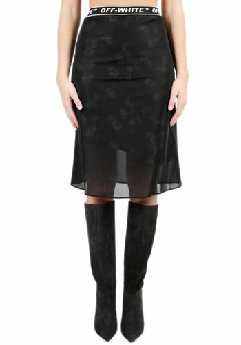 OFF-WHITE crepe two layers skirt black no color