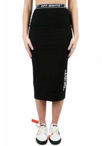 OFF-WHITE pencil skirt black white