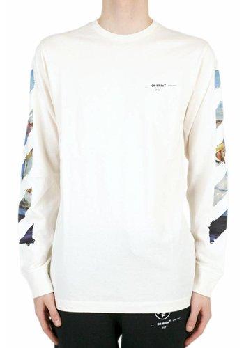 OFF-WHITE diag colored arrows l/s tee off white multicolor