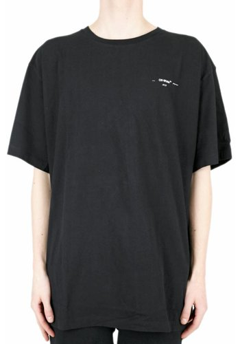 OFF-WHITE colored arrows s/s over tee black multicolor